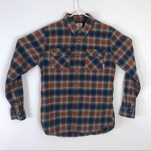 Vans Plaid Flannel Button Up Tailored Fit